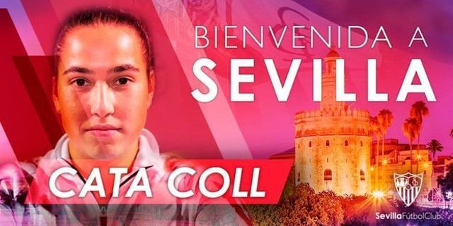 Así ha anunciado el Sevilla la llegada de la mallorquina (Foto: Tiwtter Sevilla FC)