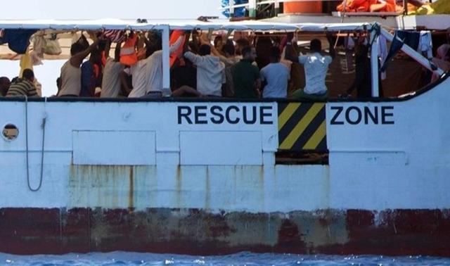 El Open Arms se encuentra frente a la costa italiana de Lampedusa