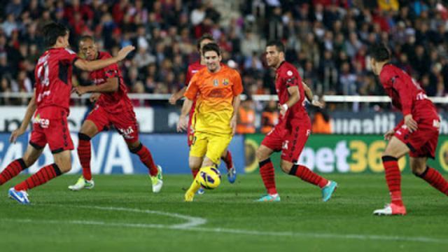 Messi en su último partido en Son Moix