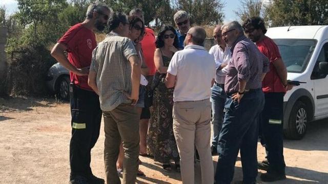 Las autoridades de la Isla se desplazaron al lugar de los hechos horas después del suceso (Foto: Conselleria APIM)