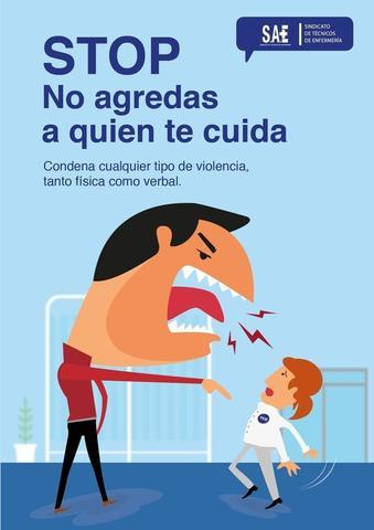 Cartel para concienciar sobre las agresiones a profesionales sanitarios