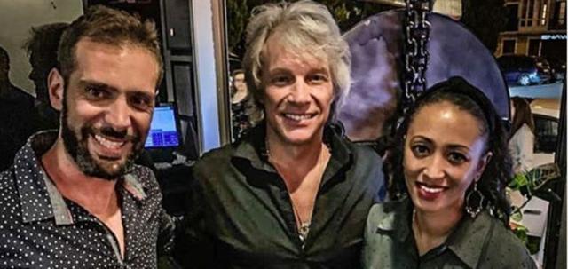 Jon Bon Jovi en el restaurante Vandal de Palma (Foto: Instagram Vandal)