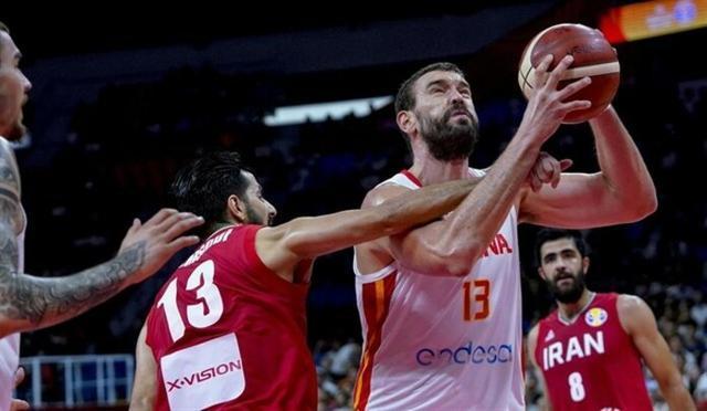 Marc Gasol en el España - Irán (Foto: EP)