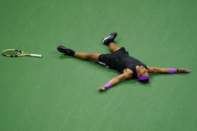 El manacorí ha terminado conquistando el torneo y lanzándose al suelo (Foto: @usopen)