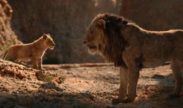Fragmento de la nueva versión de la película ' El Rey León'