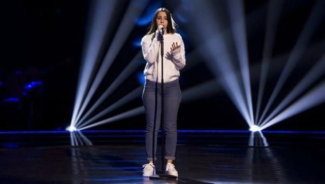 La mallorquina Laura Valle durante su actuación (Foto: La Voz Kids)