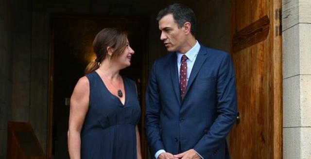 Sánchez visitó a Armengol el 7 de agosto