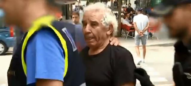 El presunto asesino en el momento de su detención