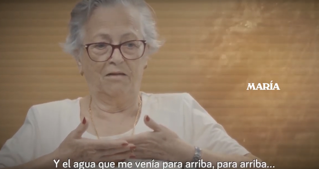María, uno de los testimonios del vídeo