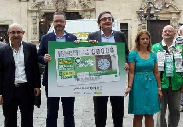 El Reloj d´en Figuera ilustra el cupón de la ONCE del jueves 24 de octubre