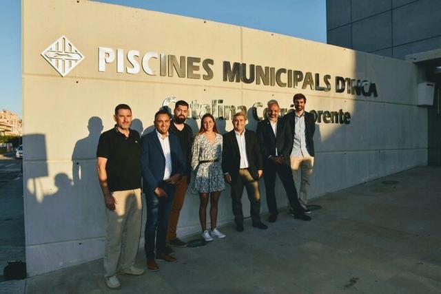 Acto de presentación de la Piscina Coberta Municipal con el nombre de Catalina Corró Lorente