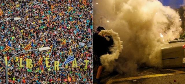 Imágenes de este viernes en Barcelona
