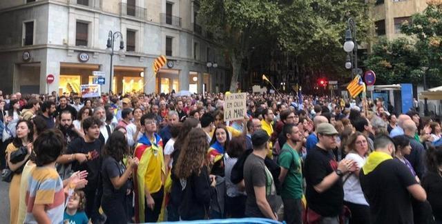 Imagen de la manifestación de esta tarde en Palma