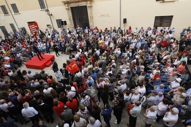 Sánchez en pleno mitin este miércoles en Palma (Foto: PSBIPSOE)