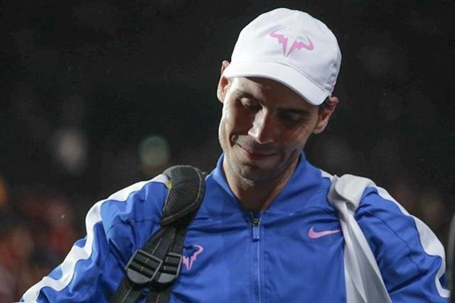 Rafael Nadal, en el Rolex Paris Masters