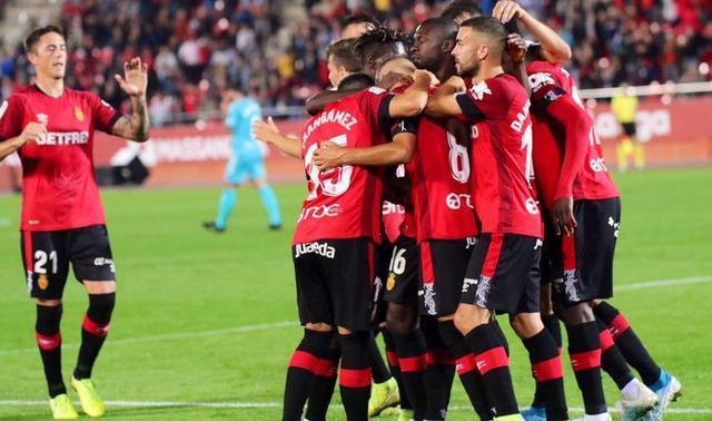 Los 'barralets' celebrando uno de sus goles ante Osasuna (Foto: RCDM)