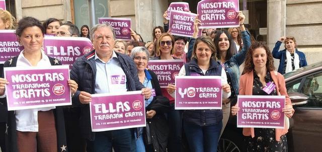 A partir de este jueves 7 noviembre UGT relanza su campaña de denuncia de esta discriminación salarial (Foto: UGT Illes Balears)