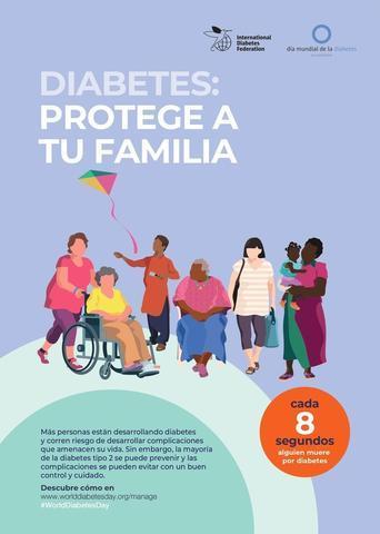 """El lema de la campaña de este año es """"Diabetes: Protege a tu Familia"""" (Foto: Fundación para la Diabetes)"""