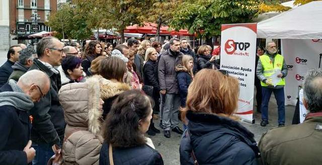 El acto ha tenido lugar en la Plaza Callao de Madrid (Foto: Twitter Stop Accidentes Madrid)