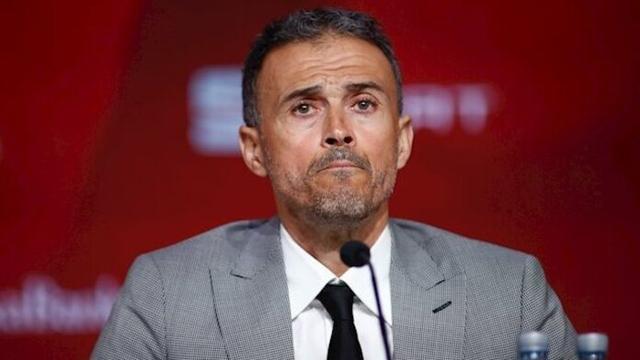 El seleccionador nacional, Luis Enrique Martínez
