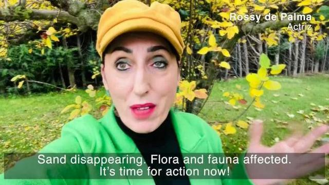 La actriz mallorquina Rossy de Palma durante su intervención en el vídeo