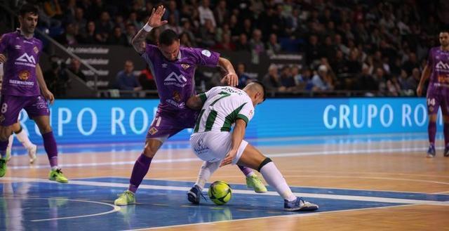Lance del choque disputado esta noche en Son Moix entre mallorquines y andaluces (Foto: Palma Futsal)