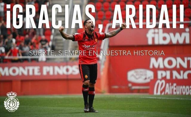 Aridai deja el Mallorca tras dos ascensos consecutivos (Foto: RCDM)