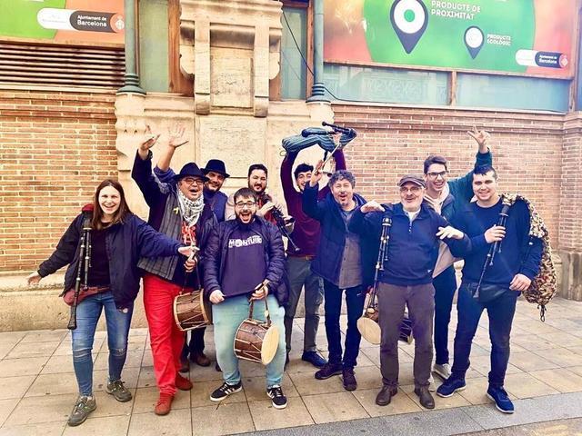 El Grupo de Xeremiers de Mallorca desplazado a Barcelona (Foto: MAC)