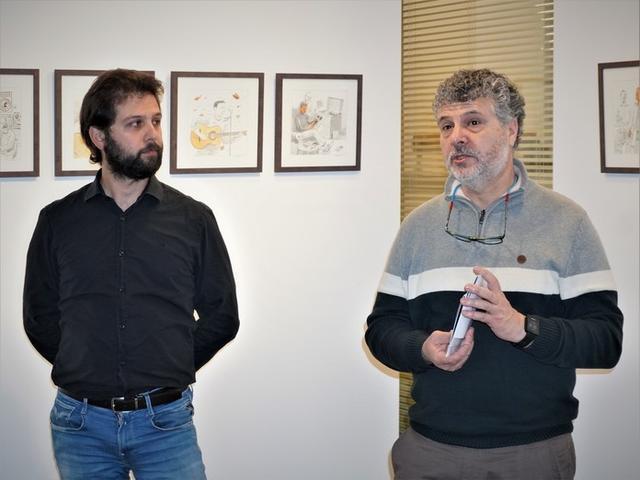 A la presentación han estado presentes Mateu Marcé, regidor de Cultura, y Llorenç Carreras, técnico de Cultura (Foto: Ajuntament Manacor)