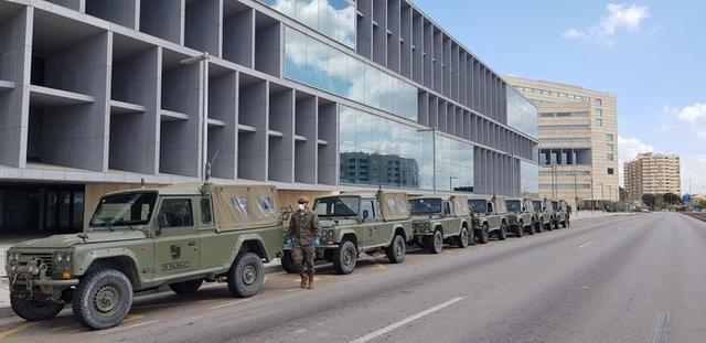 El hotel del Palau de Congresos de Palma se prepara para atender enfermos de coronavirus (Foto: @COMGEBAL_ET)