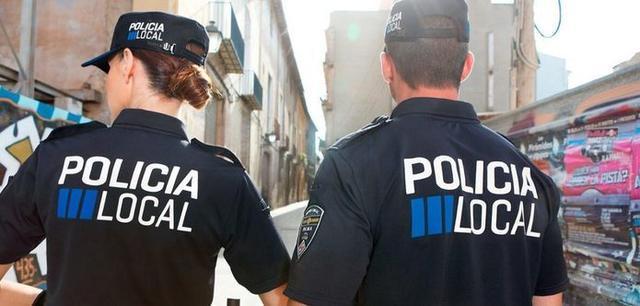 Dos agentes de la Policía Local de Palma